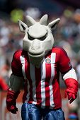 CARSON, CA - APRIL 6: Chivas USA mascot during the MLS game between the Los Angeles Galaxy & Chivas USA on April 6th 2014 at the StubHub Center in Carson, Ca.