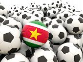 Football With Flag Of Suriname