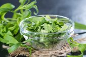 Fresh Tarragon In A Small Bowl