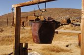 Vintage Ghost Town Well in Bodie, California