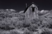 Vintage Classic outhouse in Bodie, California