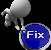 Fix Button Means Repair Mend Or Restore