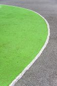 Curved Line Basketball Court