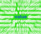 Value Word Shows Quality Worth And Customer Satisfaction
