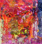 Nice Abstract Figurative Original oil Painting mixed media
