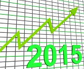 Twenty Fifteen Graph Chart Shows Increase In 2015