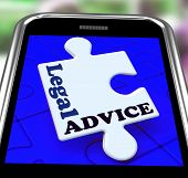 Legal Advice Smartphone Means Lawyer Assistance Online