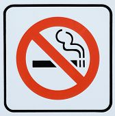 Photograph of a Generic Non Smoking area sign