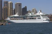 Sydney, Australia-december 19Th 2913: The Cruise Ship Rhapsody Of The Seas, Moored At Circular Quay