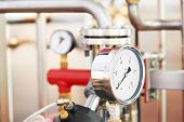 stock photo of manometer  - Closeup of manometer - JPG