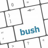 Bush Word Icon On Laptop Keyboard Keys
