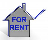 For Rent House Shows Landlord Leasing Property To Tennant