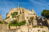 picture of mont saint michel  - View at the Abbey in Mont Saint - JPG