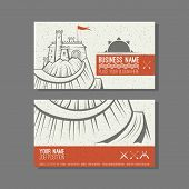 Business Card Template Castle On The Mountain