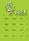 Cartoon outline  sheep.Calendar  Year of Sheep