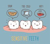 Постер, плакат: Comics about sensitive teeth