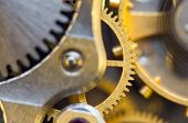 Background With Metal Cogwheels A Clockwork. Conceptual Photo For Your Successful Business Design.