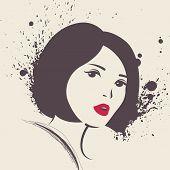 Vector illustration of beautiful woman.
