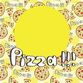 Doodle Style Pizza  Seamless Cover Fore Menu