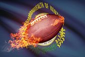 American Football Ball With Flag On Backround Series - Kentucky