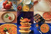 Tomato quiche collage