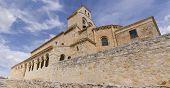 stock photo of senora  - Our Lady of Rivero church in San Esteban de Gormaz Soria Spain - JPG