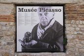 Antibes, France - 30 August 2014: Museum Board Of Pablo Picasso