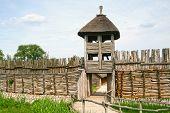 archaeological settlement in Biskupin entrance