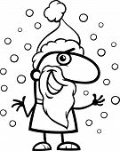 Santa Claus Cartoon Coloring Page