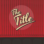 Title Live Stage Red Curtain