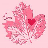 Love Card. Decorative, Background Vector
