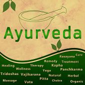 picture of ayurveda  - Ayurveda concept image with heading - JPG