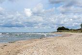 Rocky Beach In Baltic Sea