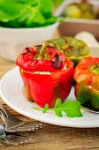 Capsicums Stuffed With Cheese And Herbs