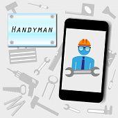 handyman advertising background vector