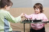 Chess Players Shaking Hands