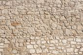Stone masonry house wall