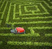 Lawnmower In Maze