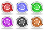 Discussion Chat Speech Bubble Web Icon Button