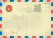 Vintage blank postcard template