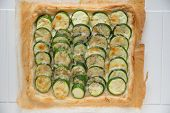 Zucchini tarte with fresh herbs