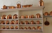picture of saucepan  - A Beautiful Collection of Copper Cooking Saucepans - JPG