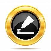 Tooth Paste And Brush Icon