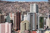 Modern buildings of La Paz in Bolivia