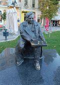 Monument chess players Bora Kostic