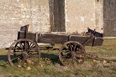 Old cart in Smederevo Fortress in Serbia
