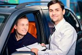 stock photo of luxury cars  - Best car rental - JPG