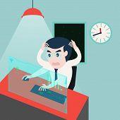 businessman working on computer problem