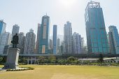 Cityscape from Sun Yat Sen Memorial Park in HongKong