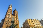 Church of Our Lady Assumed into Heaven also known as St. Mary's Church (Kosciol Mariacki) in Krakow, Poland